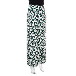 Stella McCartney Floral Printed High Waist Wide Leg Maude Trousers S 148702