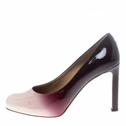 Salvatore Ferragamo Two Tone Patent Leather Gradient Leo Pumps Size 40 149374