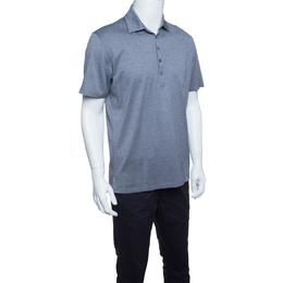 Ermenegildo Zegna Grey Cotton Pique Polo T-Shirt M 145706