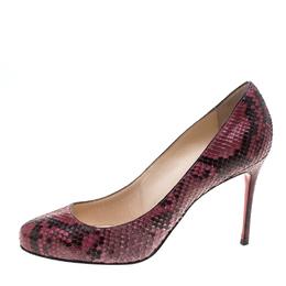 Christian Louboutin Pink Python Fifi Pumps Size 38 145546
