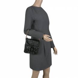 Balenciaga Black Textured Leather Mini Sac Bag 140488