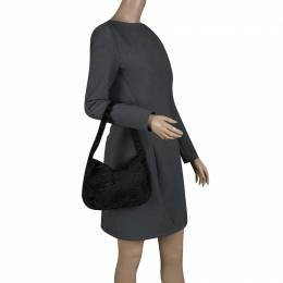 Prada Black Fur Shoulder Bag 139952