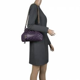 Marc Jacobs Purple Leather Mini Stam Shoulder Bag 230970