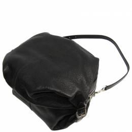Loewe Black Pebbled Leather Shoulder Bag