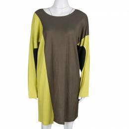 M Missoni Colorblock Knit Long Sleeve Dress M 134678