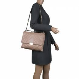 Carolina Herrera Beige Leather Shoulder Bag 135861