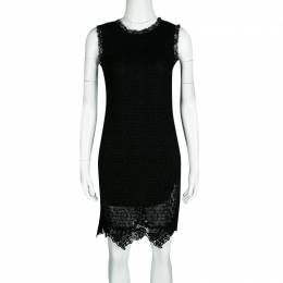 Dolce&Gabbana Black Lace Sleeveless Dress M 133551