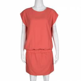 Diane Von Furstenberg Hot Spice Pink Drop Waist Tara Dress M 137296