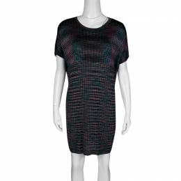 M Missoni Multicolor Patterned Knit Short Sleeve Tunic M 136888