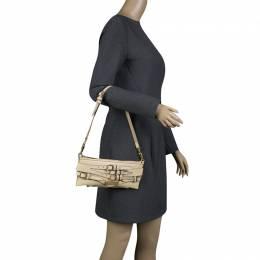 Burberry Beige Leather Pochette Shoulder Bag 135821