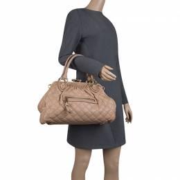 Marc Jacobs Beige Quilted Leather Stam Shoulder Bag 127878
