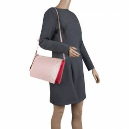 Stella McCartney Pink Faux Leather and Canvas Shoulder Bag 129972
