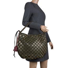Marc Jacobs Green Leather Eyelet Nomad Shoulder Bag 131953