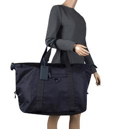 Prada Navy Blue Nylon Weekender Bag 130852