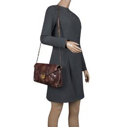 Saint Laurent Brown Python Shoulder Bag 126292