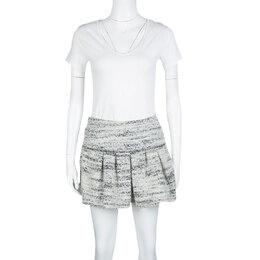Isabel Marant Monochrome Itamy Boucle Mini Skirt M 130511