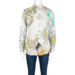 Etro Multicolor Paisley Print Cotton Long Sleeve Shirt S 124602