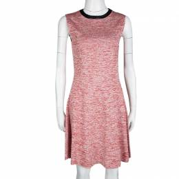 Louis Vuitton Red and White Space Dye Knit Sleeveless Dress S 120095