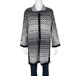 Missoni Monochrome Textured Knit Button Front Cardigan Tunic M 114999