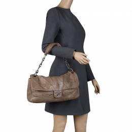 Chanel Brown Quilted Leather Urban Day Flap Shoulder Bag 120622