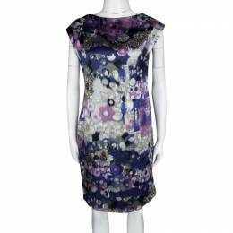 Erdem Multicolor Digital Printed Silk Sleeveless Dress M 120831