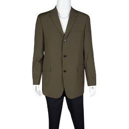 Boss by Hugo Boss Vintage Brown Wool Tailored Rossellini Blazer L 118239