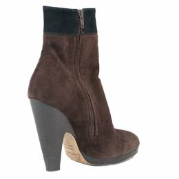 Dolce&Gabbana Brown Suede Ankle Boots Size 39 120826