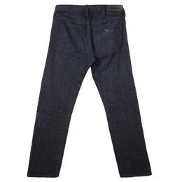 Emporio Armani Indigo Dark Wash Denim Basic Fit Jeans S 119356