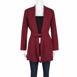 Salvatore Ferragamo Vintage Red Belted Coat M 123237