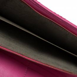Marc Jacobs Pink Quilted Leather Continental Wallet