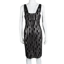 Herve Leger Black Foil Printed Jasmine Bandage Dress M 115690