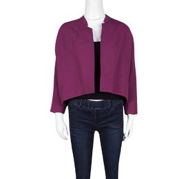 Dries Van Noten Pink Textured Open Front Cropped Jacket S 118587