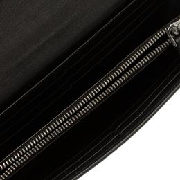 Miu Miu Dark Grey Leather Long Wallet 96659