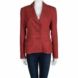 Escada Red Wool Blazer S