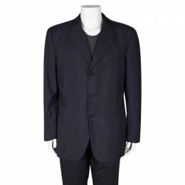Loro Piana Navy Blue Wool Renoma Blazer 3XL 102963