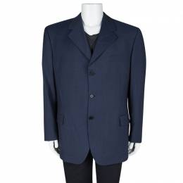 Givenchy Gentleman Blue Wool Tailored Blazer 4XL 103933