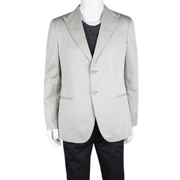 Giorgio Armani Grey Cotton Tailored Blazer XL