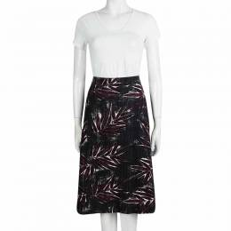 Marni Multicolor Textured Floral Printed Skirt M 98176