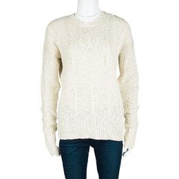 Ralph Lauren Cream Chunky Knit Sweater L 113010