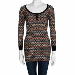 M Missoni Multicolor Patterned Sweater Tunic XS 96775