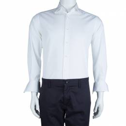 Ermenegildo Zegna White Long Sleeve Buttondown Cotton Shirt S 62406
