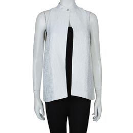 Mary Katrantzou White Textured Vest M 60312