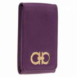 Salvatore Ferragamo Purple Leather iphone 4 Case