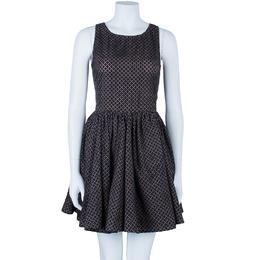 Alaia Monochrome Flare Dress M 86843