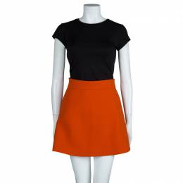 Victoria Beckham Bright Orange A-Line Skirt M 63501