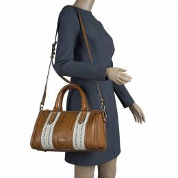 Burberry Brown Leather Rope Alchester Bowling Bag