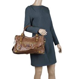 Balenciaga Brown Leather GH City Bag 66939