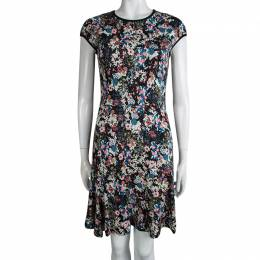 Erdem Multicolor Floral Printed cap Sleeve Dress S 92950