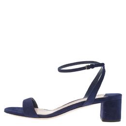 Miu Miu Purple Suede Ankle Strap Sandals Size 38.5 61596