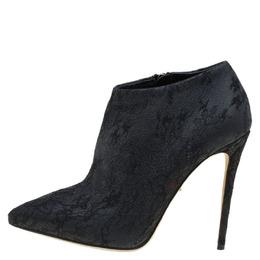 Dolce&Gabbana Black Lace Ankle Boots Size 36 85164
